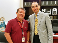 Dr Raymond Cheng meets with Dr Amado Estonillo, VP for Academic Affairs and Dean of the Graduate School, College of the Immaculate Conception, Philippines