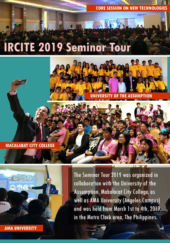 Dr Raymond Cheng invited to IRCITE 2019 Seminar Tour in Metro Clark