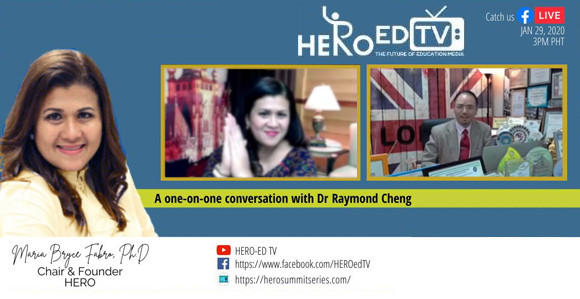 Dr Raymond Cheng interviewed by Dr Bryce Fabro on HERO EdTV 2021